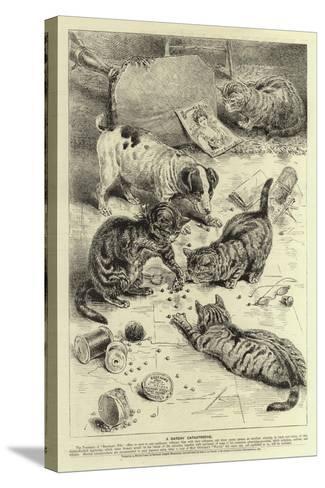 Advertisment, Beecham's Pills--Stretched Canvas Print