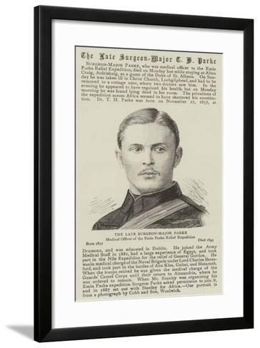 The Late Surgeon-Major Parke--Framed Art Print