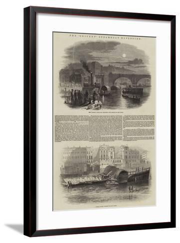The Cricket Steam-Boat Explosion--Framed Art Print
