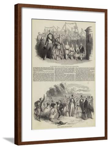 Her Majesty's Visit to Ireland--Framed Art Print