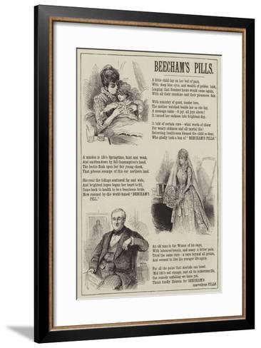Advertisement, Beecham's Pills--Framed Art Print