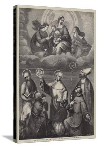 St Bernardino, and Other Saints--Stretched Canvas Print