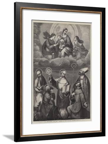 St Bernardino, and Other Saints--Framed Art Print