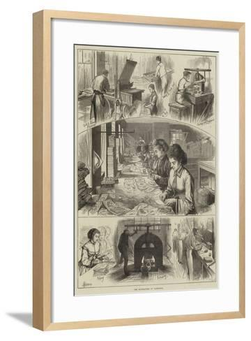 The Manufacture of Valentines--Framed Art Print