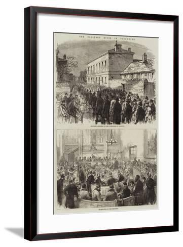 The Colliery Riots in Yorkshire--Framed Art Print