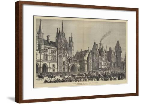 The New Royal Courts of Justice--Framed Art Print