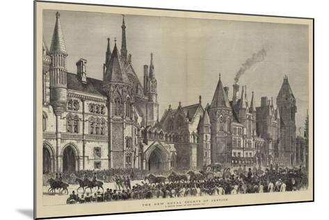 The New Royal Courts of Justice--Mounted Giclee Print