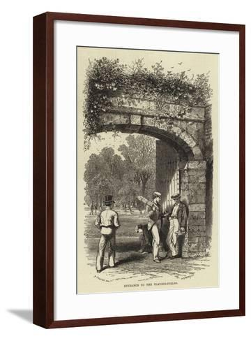 Entrance to the Playing-Fields--Framed Art Print