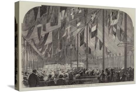 The Cobden Banquet at Rochdale--Stretched Canvas Print