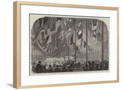 The Cobden Banquet at Rochdale--Framed Art Print