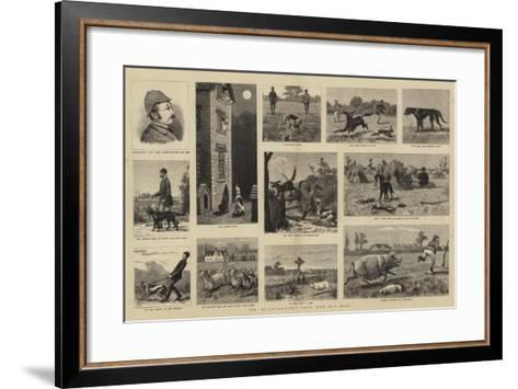 Mr Plantagenet Trot and His Dogs--Framed Art Print