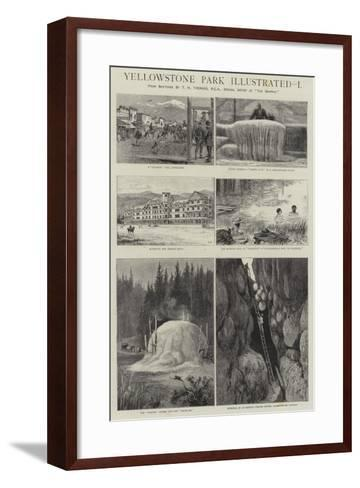 Yellowstone Park Illustrated, I--Framed Art Print