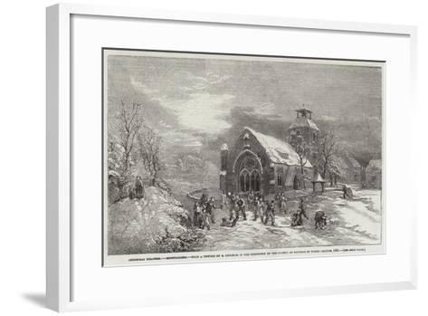 Christmas Weather, Snowballing--Framed Art Print