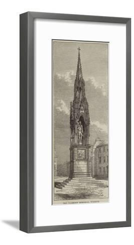 The Clarkson Memorial, Wisbech--Framed Art Print