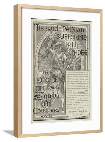 Advertisement, St Jacobs Oil--Framed Art Print