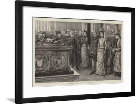 A Party Going Round the Chapel--Framed Art Print