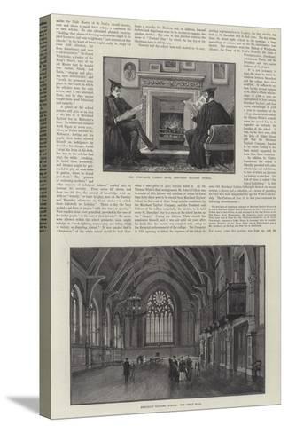 The Merchant Taylors' School--Stretched Canvas Print