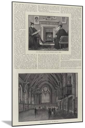 The Merchant Taylors' School--Mounted Giclee Print