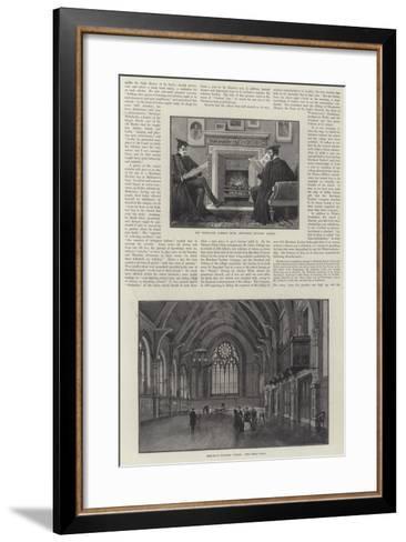 The Merchant Taylors' School--Framed Art Print