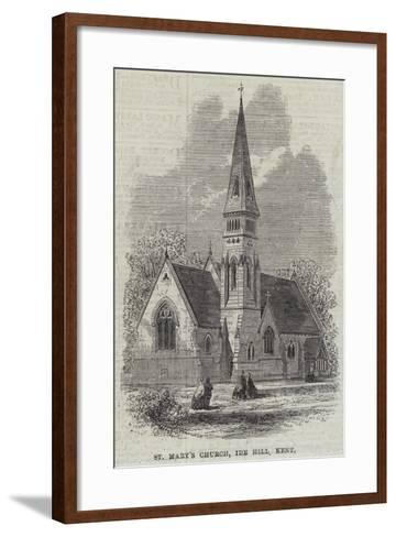 St Mary's Church, Ide Hill, Kent--Framed Art Print