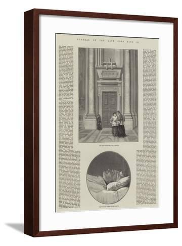 Funeral of the Late Pope Pius IX--Framed Art Print