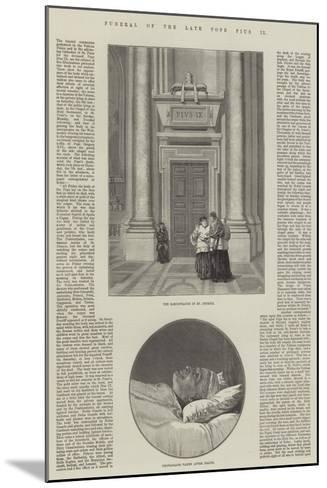 Funeral of the Late Pope Pius IX--Mounted Giclee Print