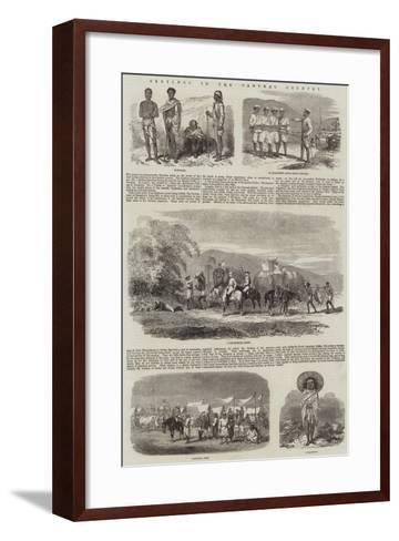 Sketches in the Santhal Country--Framed Art Print