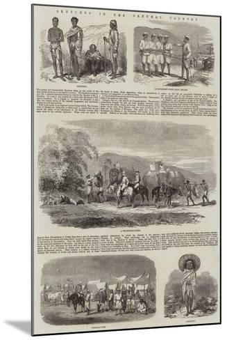 Sketches in the Santhal Country--Mounted Giclee Print