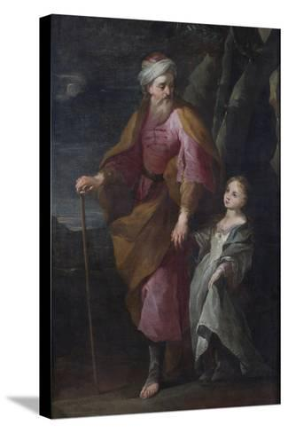 St Joachim and the Virgin Mary--Stretched Canvas Print