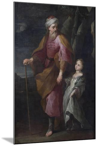 St Joachim and the Virgin Mary--Mounted Giclee Print