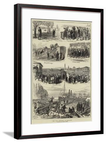 The War, Sketches at Rustchuk--Framed Art Print