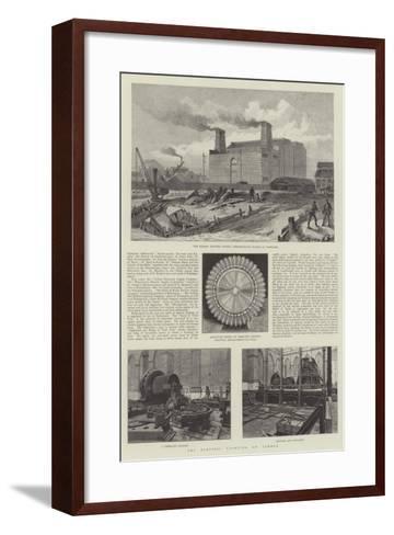The Electric Lighting of London--Framed Art Print
