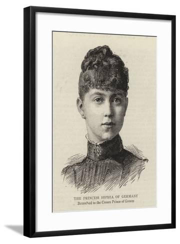 The Princess Sophia of Germany--Framed Art Print