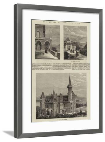 The Queen's Residence in Italy--Framed Art Print