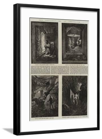 The Explorations at Jerusalem--Framed Art Print