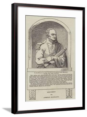 Monument to Admiral Maitland--Framed Art Print