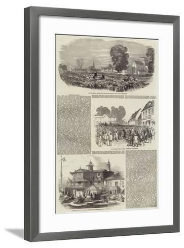 Lajos Kossuth in Southampton--Framed Art Print