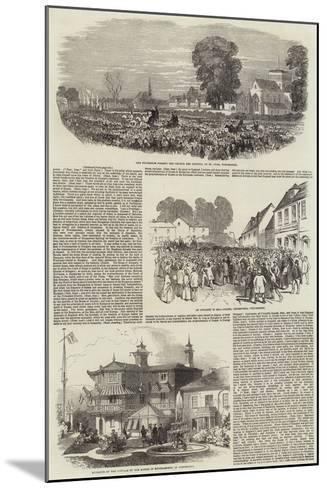 Lajos Kossuth in Southampton--Mounted Giclee Print