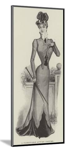 A Fashionable Autumn Costume--Mounted Giclee Print