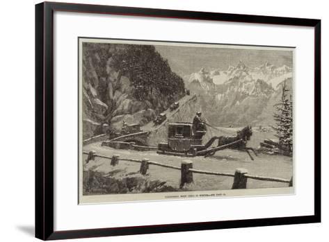 Descending Mont Cenis in Winter--Framed Art Print