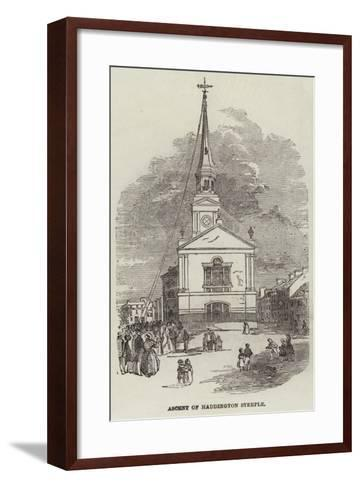Ascent of Haddington Steeple--Framed Art Print