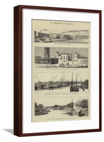 The Bombardment of Alexandria--Framed Art Print
