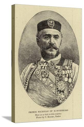 Prince Nicholas of Montenegro--Stretched Canvas Print