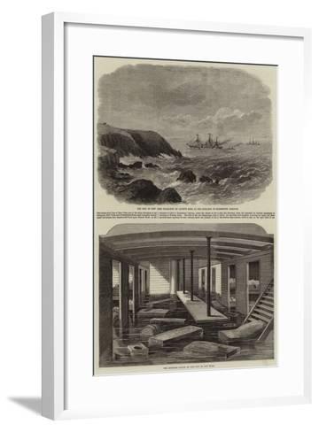 The City of New York Steamship--Framed Art Print