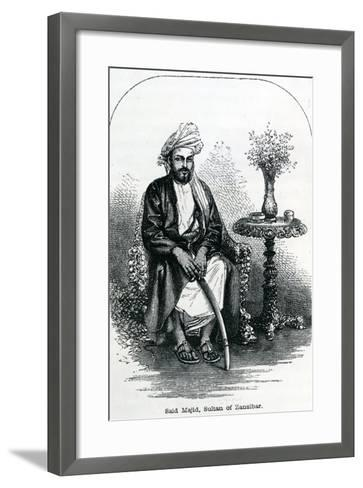 Said Majid, Sultan of Zanzibar--Framed Art Print