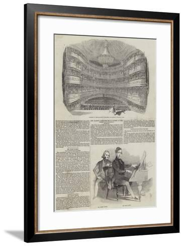 Performing Arts in London--Framed Art Print
