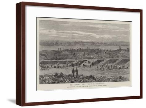 Preparing the New Wimbledon--Framed Art Print