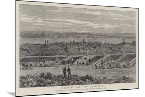 Preparing the New Wimbledon--Mounted Giclee Print
