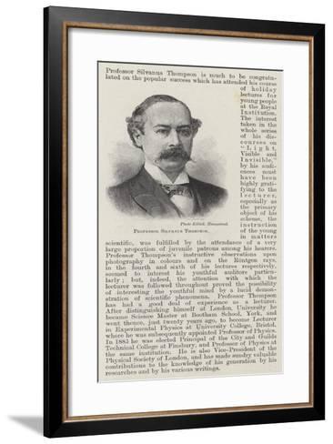 Professor Silvanus Thompson--Framed Art Print