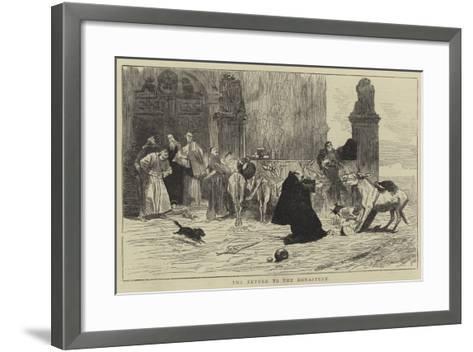The Return to the Monastery--Framed Art Print